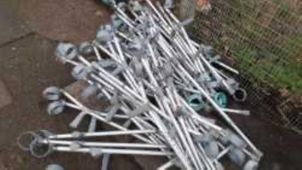 Please clear dumped Hospital waste-150 Doggett Road, London, SE6 4PZ