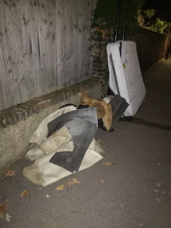 Mattress and bags of rubbish  image 1-19a Grangewood St, London E6 1EZ, UK