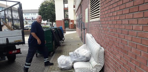 marine tower  weekly fire check  mattress,  sweeping bags -Marine Tower ABINGER, London, SE8 5UY