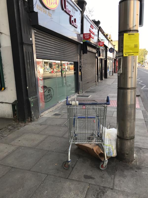 Shopping Trolley -177a Uxbridge Road, West Ealing, W13 8RA
