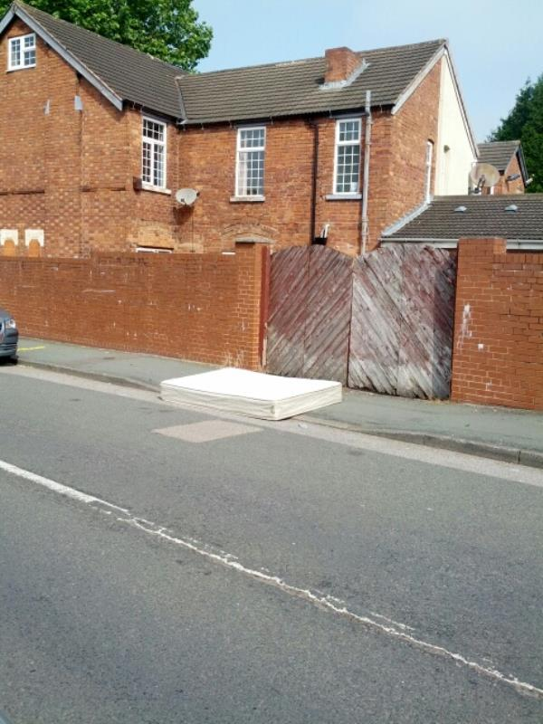mattress dumped Infront of neighbours car entrance-124 Rayleigh Road, Wolverhampton, WV3 0AP