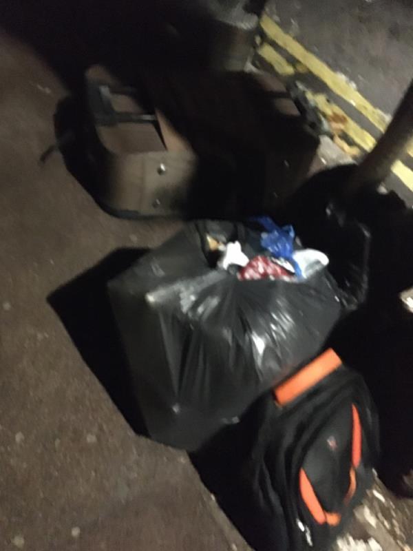 Rubbsih dumped-406 High St N, Manor Park, London E12 6RH, UK