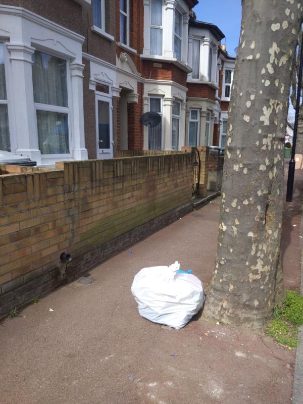 1x black sack evidence found -62 Macaulay Road, East Ham, E6 3BL