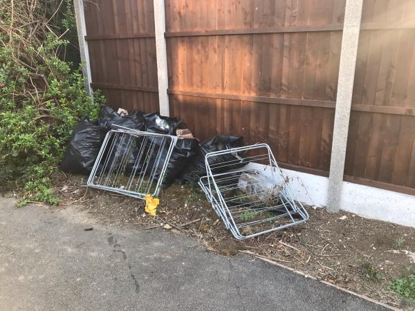 Rubbish left in Chetwood Walk. -14 Barry Road, London, E6 5TA