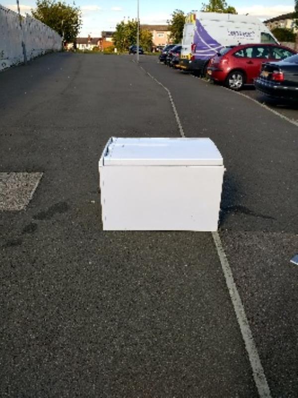 dumped fridge on Helmsdale Close-61 Helmsdale Close, Reading, RG30 2PT