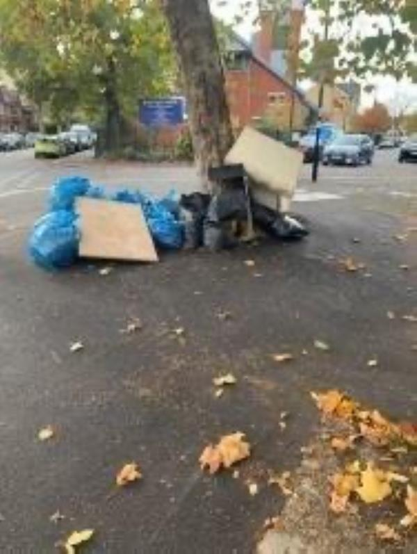 Please clear bags-3b Woolstone Road, London, SE23 2TR