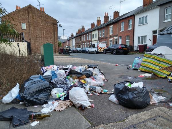 Dumped rubbish-12 Upper Crown Street, Reading, RG1 2SS