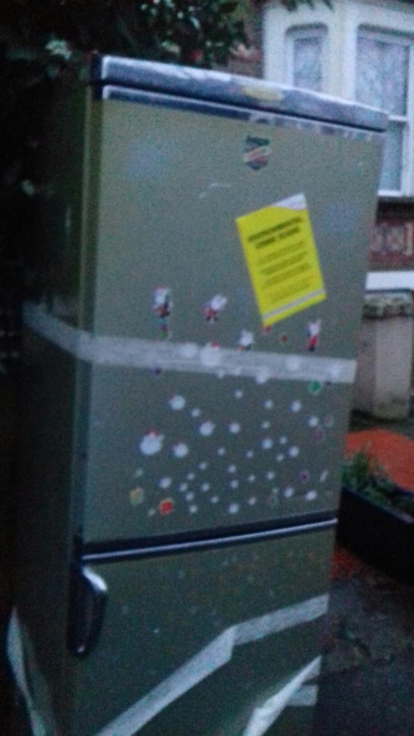 A fridge freezer dumped outside 90 Earlham Grove E7-88 Earlham Grove, London, E7 9AR
