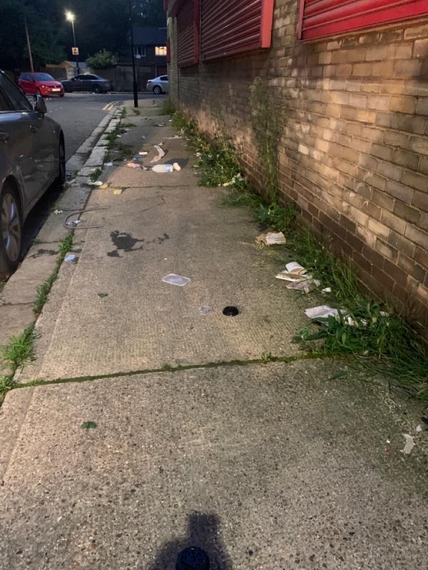 Rubbish everywhere. -Victoria House, 7 Caxton St N, London E16 1XN, UK