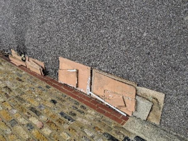 dumped wood on pavement on South Grove n15 near a school -46a Oulton Road, London, N15 5PY
