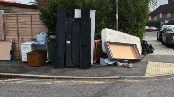 Please clear flytip-57 Launcelot Road, Bromley, BR1 5DY