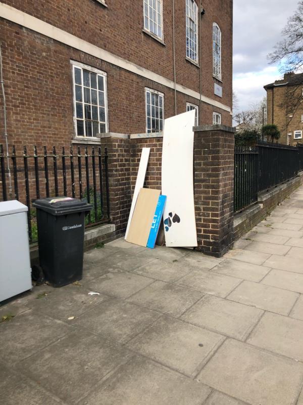 Furniture rubbish dumped -184 Lee High Road, London, SE13 5PE