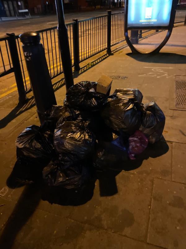 Rubbish -Garland House, 302 Romford Road, London, E7 9HD