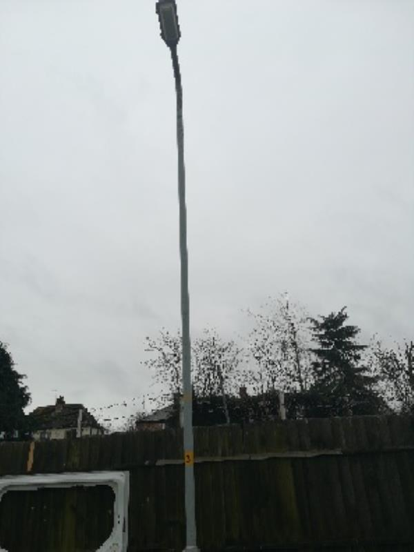 Street light not working-43 Villiers Avenue, Wolverhampton, WV14 6QL