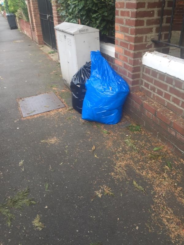 Dumped rubbish -Greek Orthodox Church Of St John The Baptist Wightman Road, London, N8 0LY