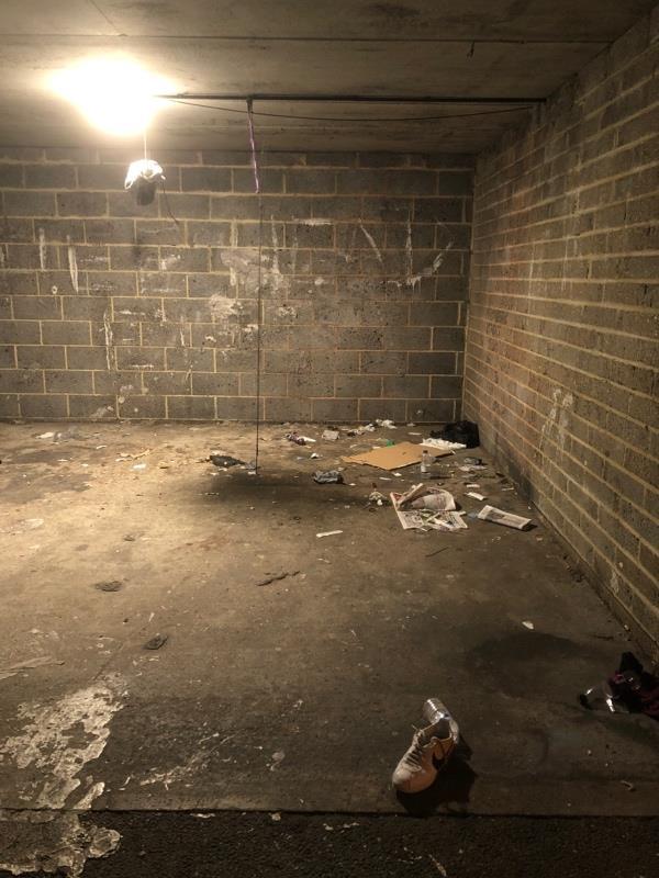 Garage at the end. Full of needles -10 Nina Mackay Close, London, E15 4PD