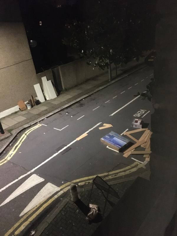 House renovation rubbish -142 Portway, London, E15 3QW