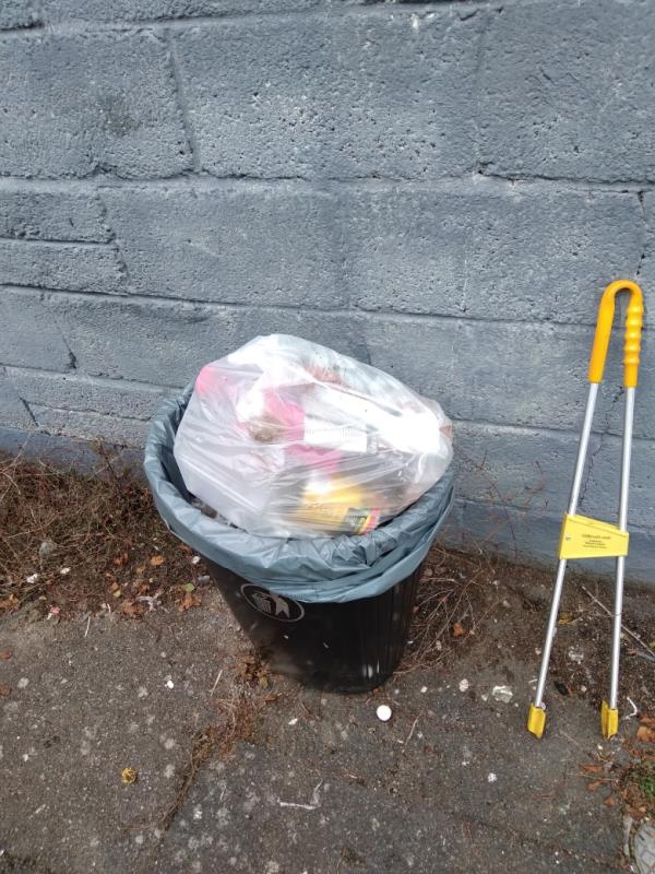 Flytipped household waste bags in bin no evidence taken away -1 Rossington Place, Reading, RG2 8RH