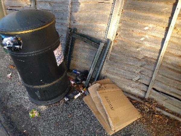 Flytipped items no evidence /taken -1 Staverton Road, Reading, RG2 7JX