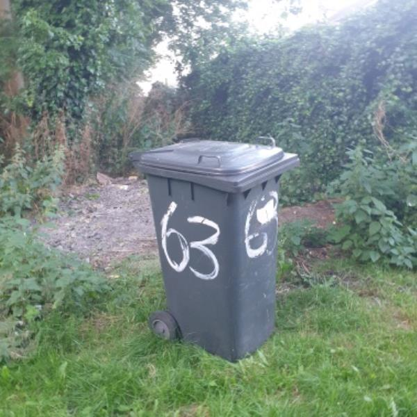 fly tipping bin dumped in Dunstall Wood ent off Austin St-142 Glentworth Gardens, Wolverhampton, WV6 0SQ