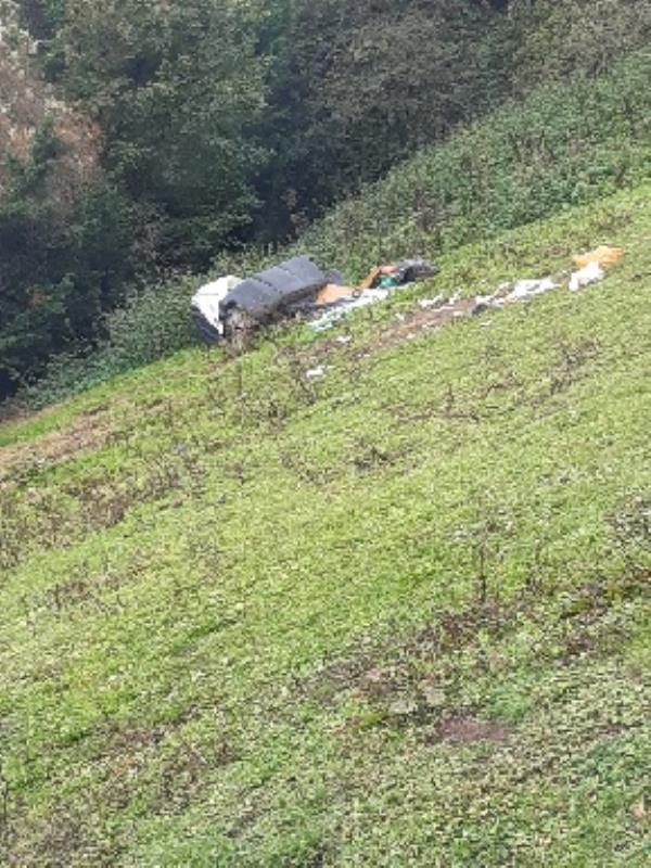 gypsy rubbish left in field -38-40 Portman Road, Reading, RG30 1JG