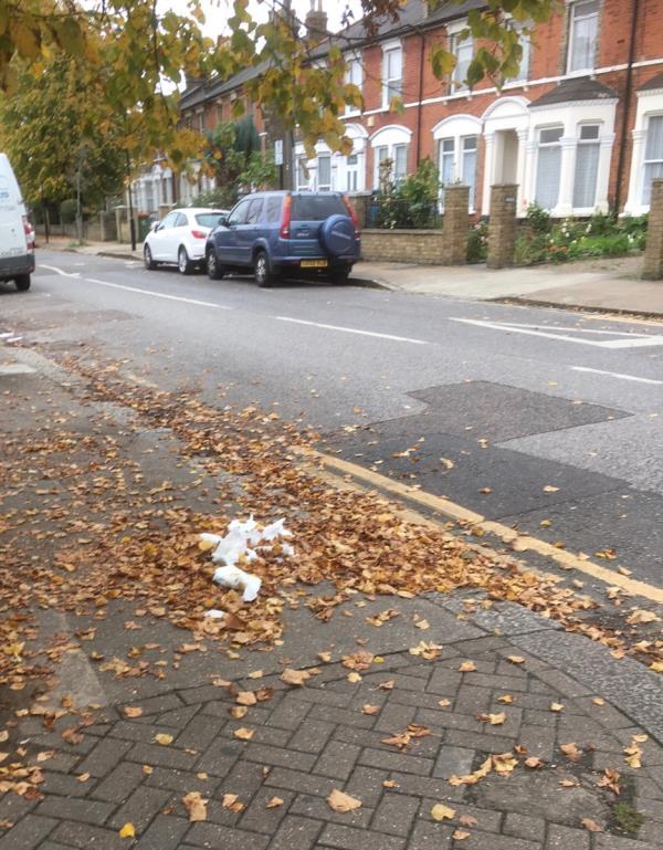 6 nappies dumped at corner of Hampton Road and Balmoral Road. -115 Hampton Road, London, E7 0NX