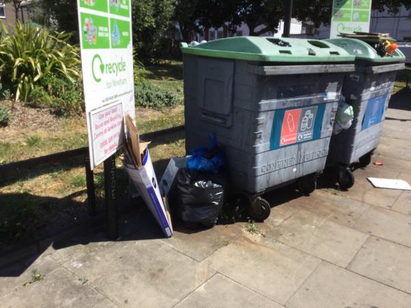 Near recycling bank opp dirleton rd on portway -54 Portway, London, E15 4AN