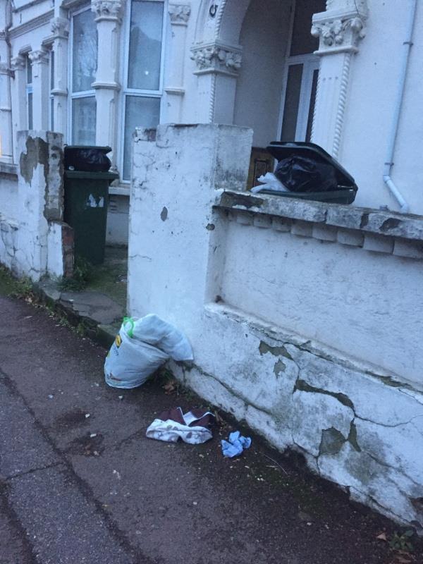 Rubbish dump -138 Shelley Avenue, London, E12 6