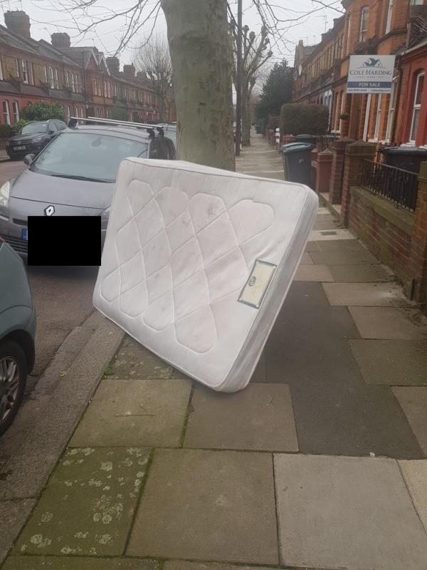 dumped rubbish fly tipping outside 139 lymington ave -137 Lymington Avenue, London, N22 6JJ