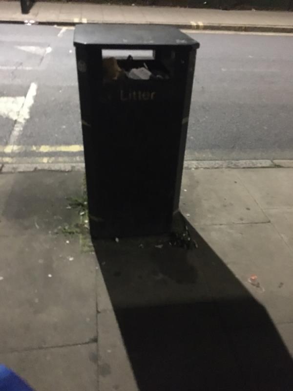 Bin over flowing  image 2-161 Church Road, Manor Park, E12 6AF