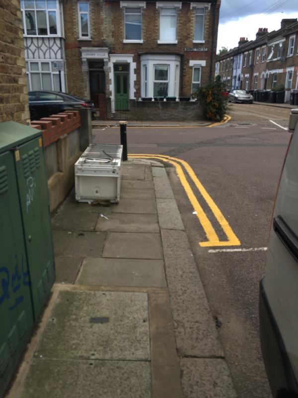 Fridge freezer dumped  Baronet Rd N17-39B Baronet Rd, London N17 0LY, UK