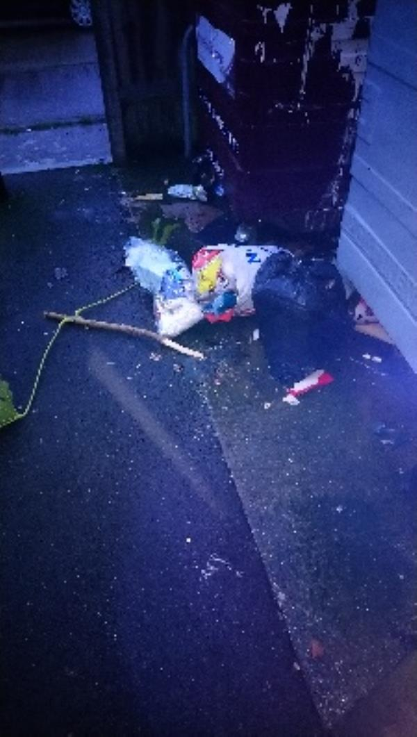 Fly tip in refuse area of 9_17 Bob Green Court  image 1-8 Bobgreen Court, Reading, RG2 8UE