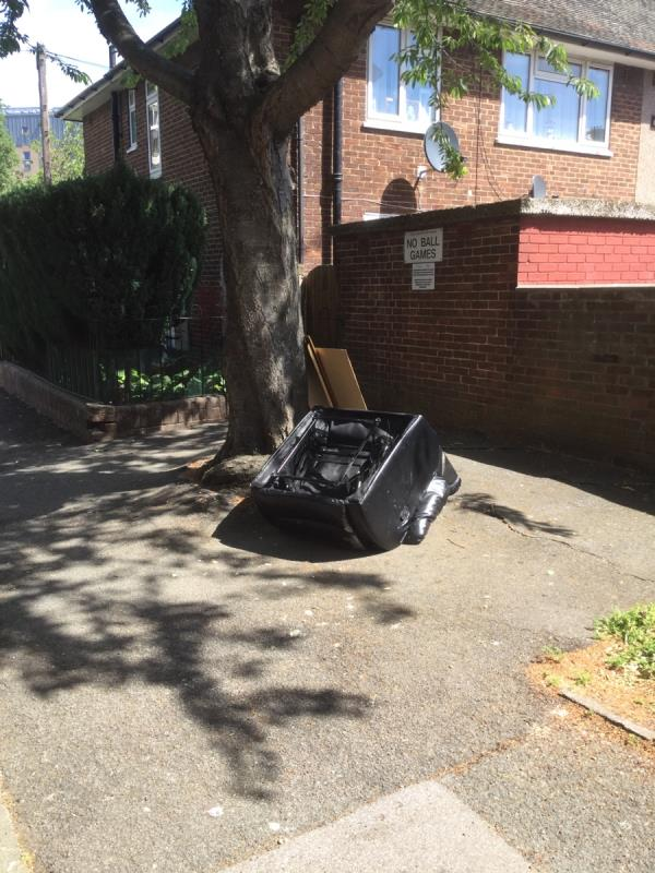 Opposite lamppost 2 reclining chair and wood -12 Gill Avenue, London, E16 3AF