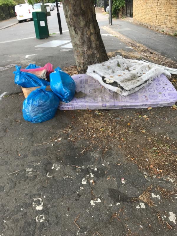 Please remove flytip -5 Woolstone Road, London, SE23 2TR
