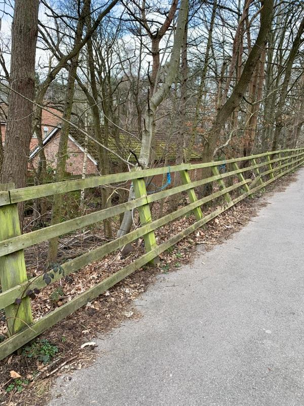 Fence broken and falling over-24 Ruth Close, Farnborough, GU14 9UX