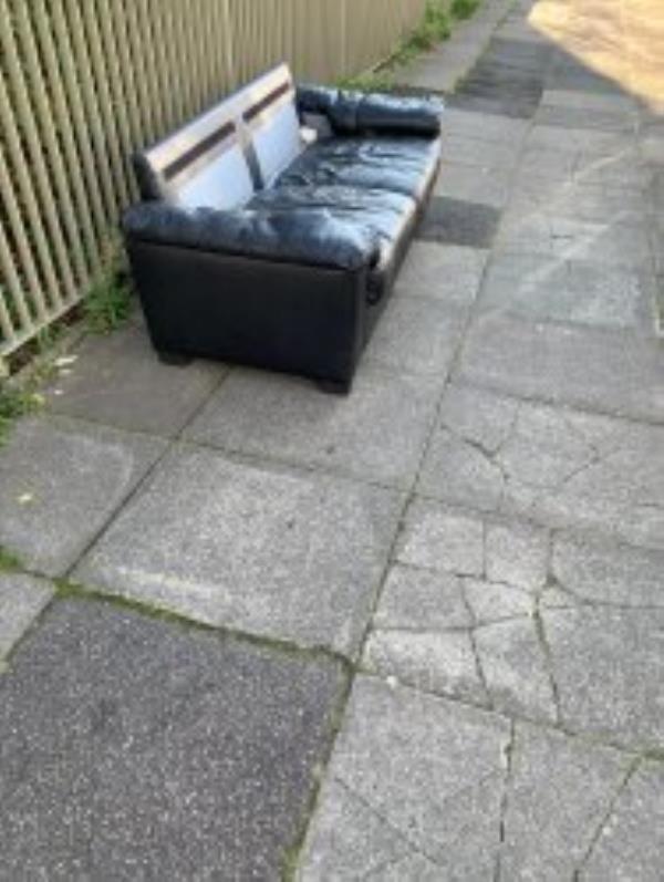 Please Clear A Sofa from Pavement side of Hazelhurst Court.  Reported via Fix My Street-1 Melfield Gardens, London SE6 3AH, UK