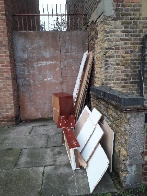chest of drawers, broken wardrobe, beside 36 Adine rd e13-34 Adine Road, London, E13 8LL