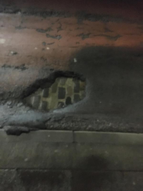 Massive pot hole 🕳 -655d Barking Road, Plaistow, E13 9EX