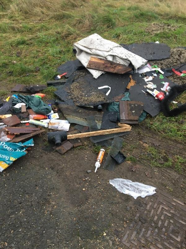 Rubbish tipped. -103 Hawley Ln, Farnborough GU14 8JG, UK