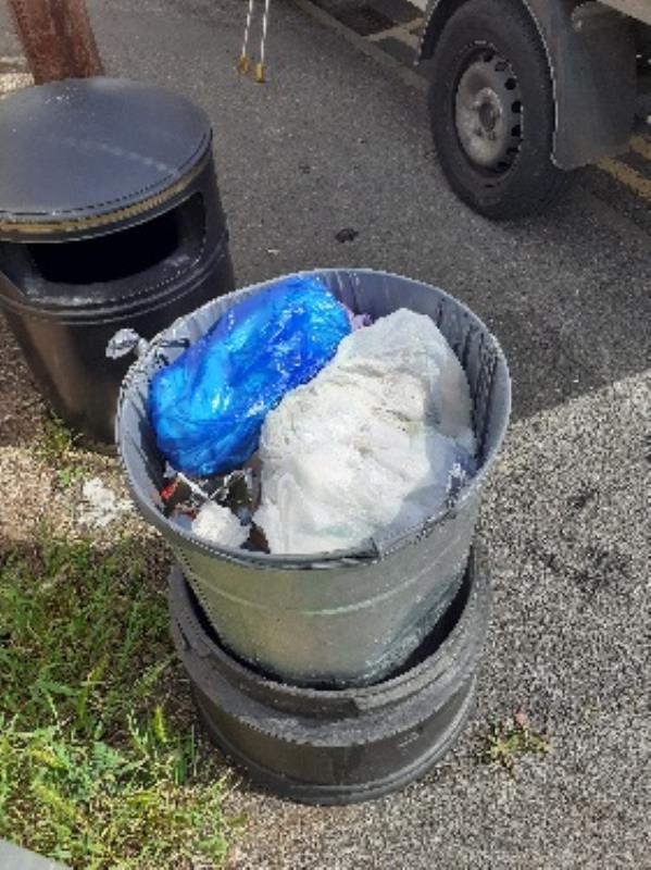 flytipped household waste bags in bin no evidence taken -221 Hartland Road, Reading, RG2 8DN