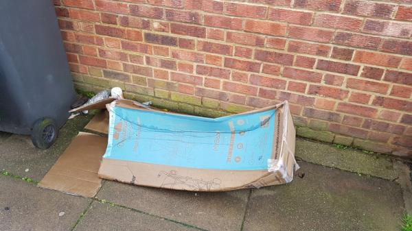 near 1 Fordel Road. Reported this several months ago. still there -25 Saint Fillans Road, London, SE6 1DQ