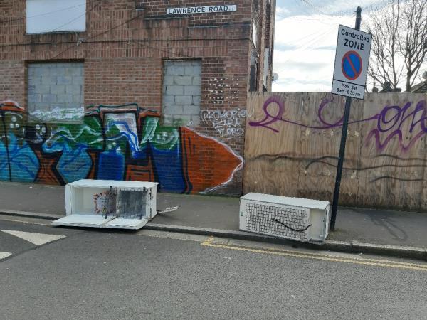 Fridges on Lawrence Road at junction of Katherine Road -154 Katherine Road, East Ham, E6 1ER