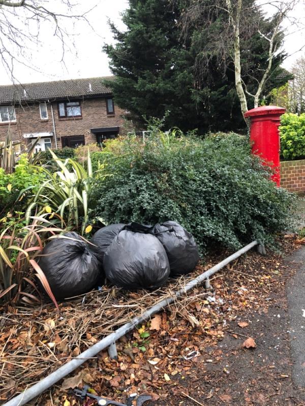 Rubbish bags -136 Savage Gardens, London, E6 5NE