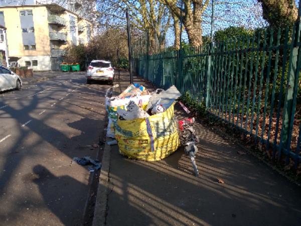 2 bags waste-325 Church Road, Manor Park, E12 6JT