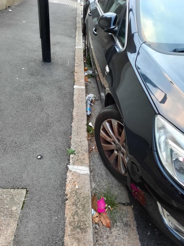Edinburgh Rd is very dirty full of litter and needs to be cleaned. -25 Edinburgh Rd, London E13 9HR, UK