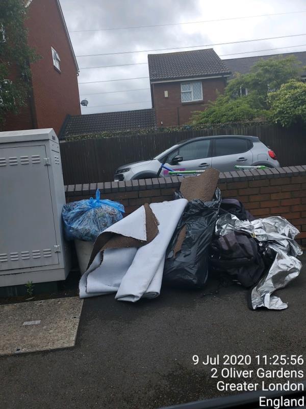 pile of carpet-13 Latham Close, London, E6 5SF
