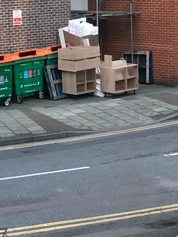 Dumped kitchen-Burford Wharf Apts, 3 Cam Rd, London E15 2SQ, UK
