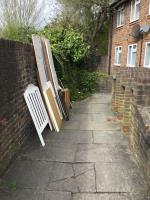 Wood panels dumped image 2-101 Colman Road, Canning Town, E16 3JZ