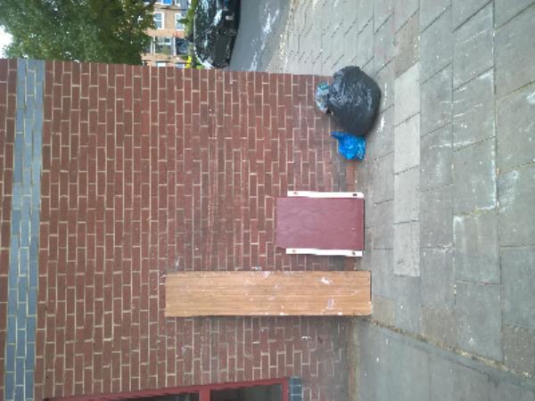 wood, black bag-64 Plashet Grove, East Ham, E6 1AE