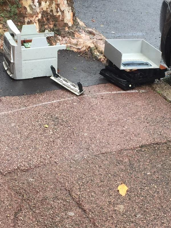 Rubbish dump -111 Shelley Avenue, London, E12 6PX